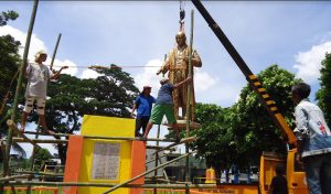Installing Statue10